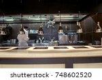 restaurant kitchen interior ... | Shutterstock . vector #748602520