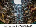 hong kong high density residence | Shutterstock . vector #748604440