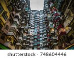 hong kong high density residence | Shutterstock . vector #748604446