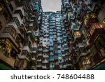 hong kong high density residence | Shutterstock . vector #748604488