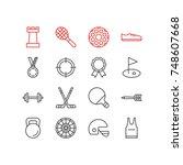 vector illustration of 16... | Shutterstock .eps vector #748607668
