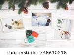 photo album in remembrance and... | Shutterstock . vector #748610218