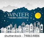landscape city village in...   Shutterstock .eps vector #748614886