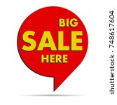 colorful pointer of sales or... | Shutterstock . vector #748617604