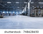 typical production storage... | Shutterstock . vector #748628650