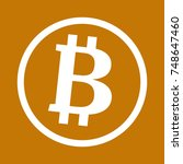 bitcoin icon. flat design.... | Shutterstock .eps vector #748647460