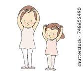 vector illustration of little... | Shutterstock .eps vector #748653490