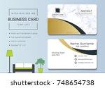 luxury business cards vector... | Shutterstock .eps vector #748654738