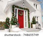 3d rendering. christmas... | Shutterstock . vector #748655749