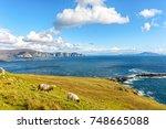 beautiful rural irish country...   Shutterstock . vector #748665088