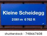 Kleine Scheidegg Train Station...