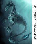 water beast   Shutterstock . vector #748670134