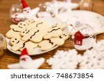christmas cookies and decoration | Shutterstock . vector #748673854