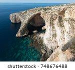 blue grotto  malta  | Shutterstock . vector #748676488