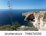 blue grotto  malta  | Shutterstock . vector #748676530