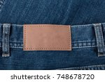 texture background of jeans  | Shutterstock . vector #748678720