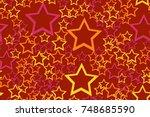 seamless pattern of the 3d... | Shutterstock .eps vector #748685590