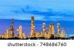 gas turbine electrical power... | Shutterstock . vector #748686760