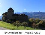 vaduz castle  schloss vaduz  in ... | Shutterstock . vector #748687219