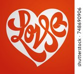 love typography. love logotype. ... | Shutterstock .eps vector #748690906