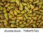 pear texture  lots of pears...   Shutterstock . vector #748695763