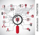human resources   conceptual... | Shutterstock .eps vector #748697008