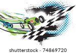 race to the finish line.... | Shutterstock .eps vector #74869720
