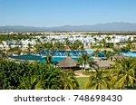 modern housing in puerto... | Shutterstock . vector #748698430