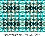 aztec pattern. tribal design.... | Shutterstock . vector #748701244
