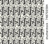 abstract irregular stroke and... | Shutterstock .eps vector #748703584