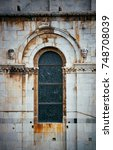 vintage window with arch shape... | Shutterstock . vector #748708039