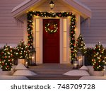3d rendering. christmas... | Shutterstock . vector #748709728