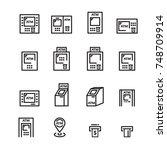 atm line icon | Shutterstock .eps vector #748709914