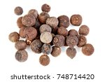 whole allspice isolated on...   Shutterstock . vector #748714420