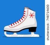 ice skates. figure skates | Shutterstock .eps vector #748714600