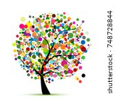 abstract colorful tree for your ... | Shutterstock .eps vector #748728844