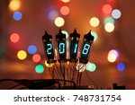 happy new year is written with... | Shutterstock . vector #748731754