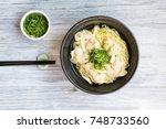 shrimp wonton with braised pork ... | Shutterstock . vector #748733560