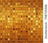 luxurious golden mosaic   Shutterstock . vector #748735306