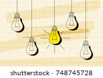 vector light bulb iconcept of... | Shutterstock .eps vector #748745728