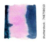 watercolor blotch | Shutterstock . vector #748758010