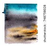 watercolor blotch | Shutterstock . vector #748758028