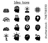 idea   creative icon set  | Shutterstock .eps vector #748758550
