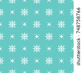 pattern seamless snowflake for... | Shutterstock .eps vector #748758766