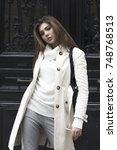street fashion concept.... | Shutterstock . vector #748768513