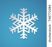 snowflake vector in paper art... | Shutterstock .eps vector #748771084