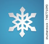 snowflake vector in paper art... | Shutterstock .eps vector #748771090