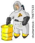 destructor   man in protective... | Shutterstock .eps vector #74877133