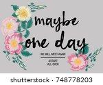 flower embroidery for t shirt | Shutterstock .eps vector #748778203