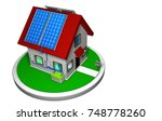 3d Model Of A Small House With...